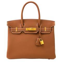 Brand New Hermes Birkin 30 Gold Togo GHW