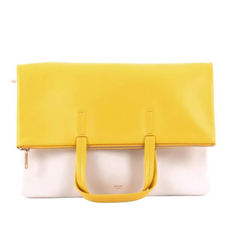 Celine Folded Cabas Convertible Bag Leather 1