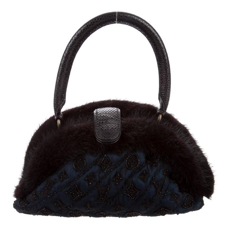 Louis Vuitton Limited Edition Monogram Demi Bead Evening Top Handle Satchel Bag mCoP34boj