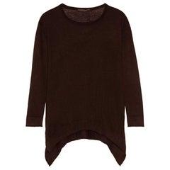 Donna Karan Brown Wool Over-sized Sweater Sz S