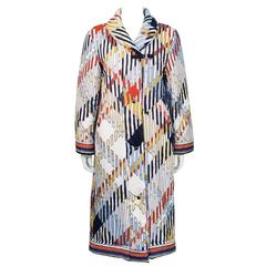 1970's Leonard Cotton Quilted Overcoat