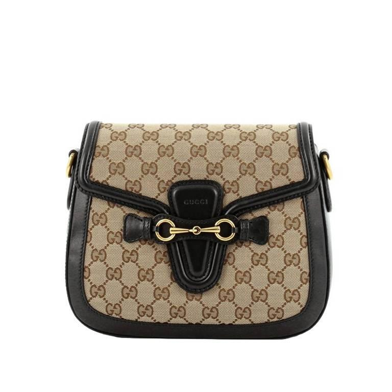 8d06878ae50b Gucci Lady Web Shoulder Bag GG Canvas Medium at 1stdibs