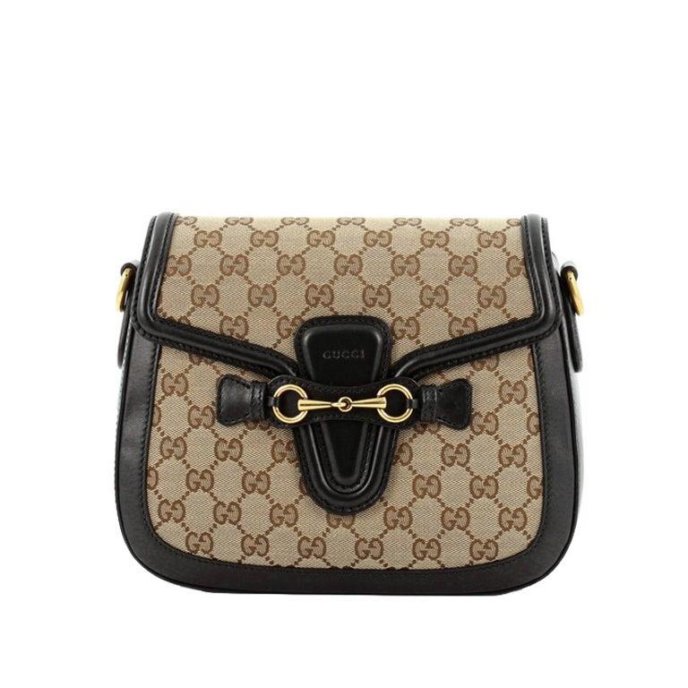 Gucci Monogram Sectional Shoulder Bag With Huge gg Hardware t6ttiA55lB