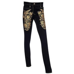 Versace Gold Embroidery Jeans