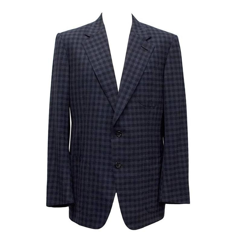 Tom Ford Blue Checkered Blazer 1