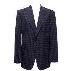 Tom Ford Blue Checkered Blazer