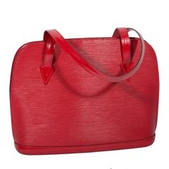 Louis Vuitton Red Epi Shoulder Bag