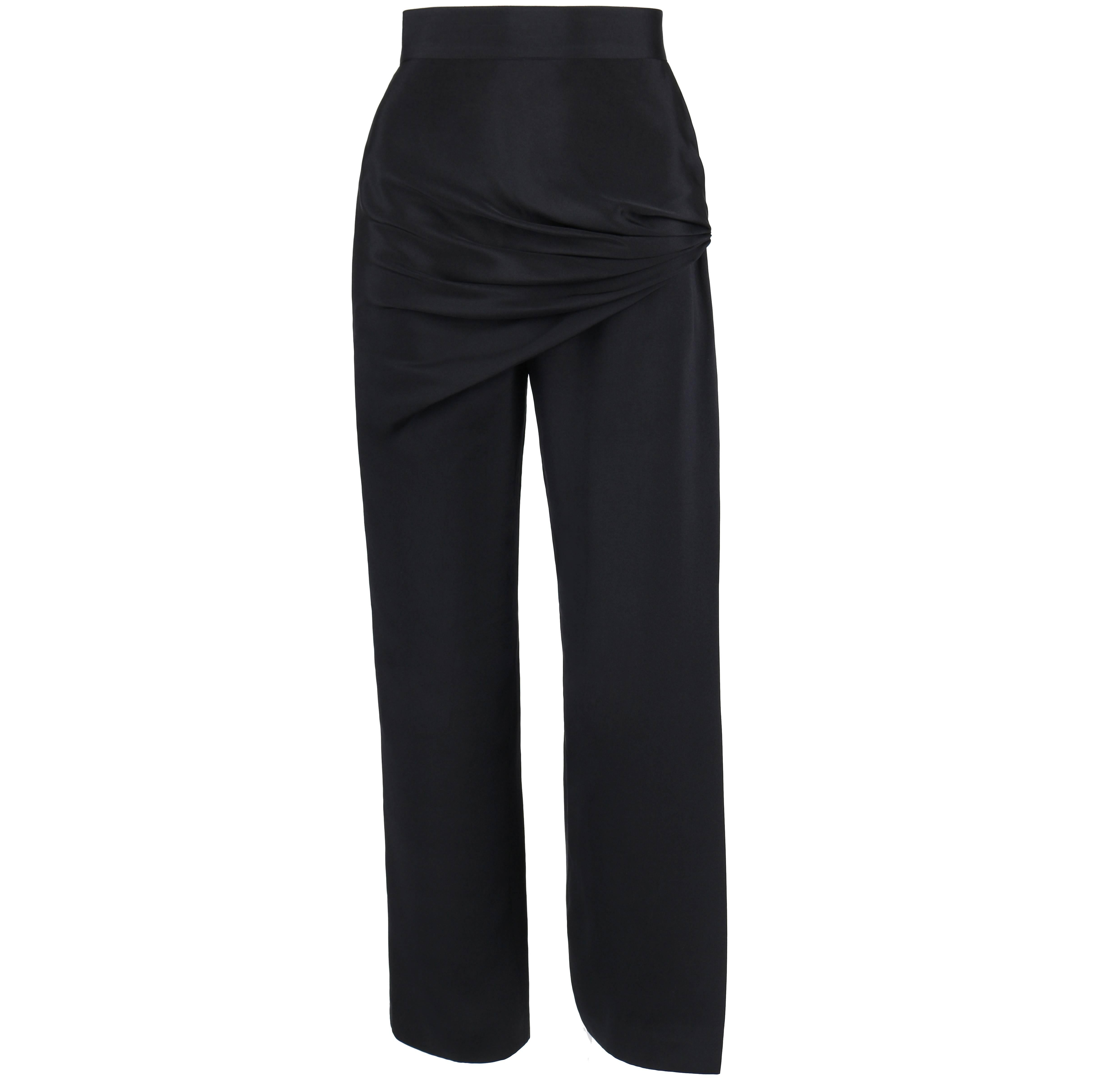 946c6a1d Gianni Versace Vintage 1980s 80s Gray Wool Pleated Pants or Trousers
