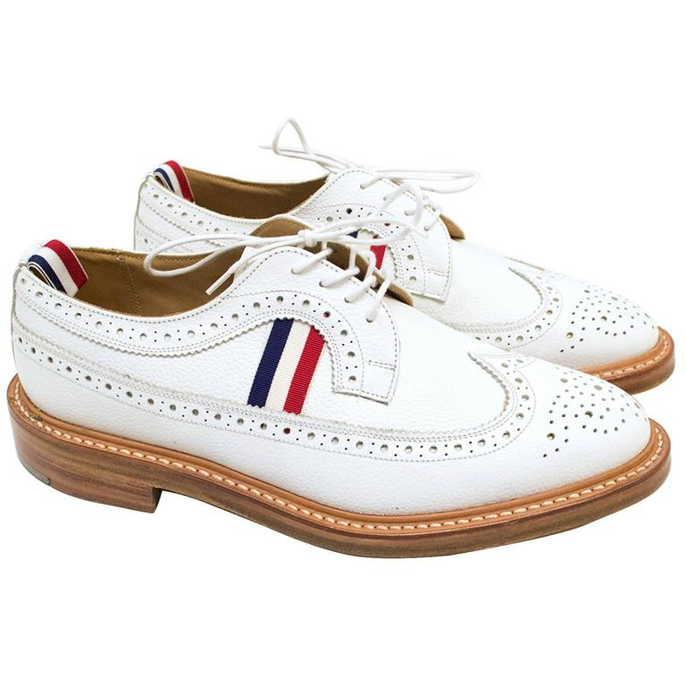 Thom Brown White Brogues At 1stdibs