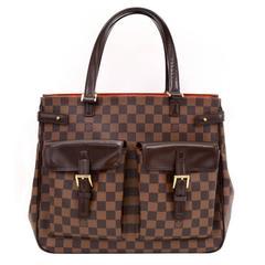 Louis Vuitton Uzes Ebene Damier Canvas Tote Hand Bag