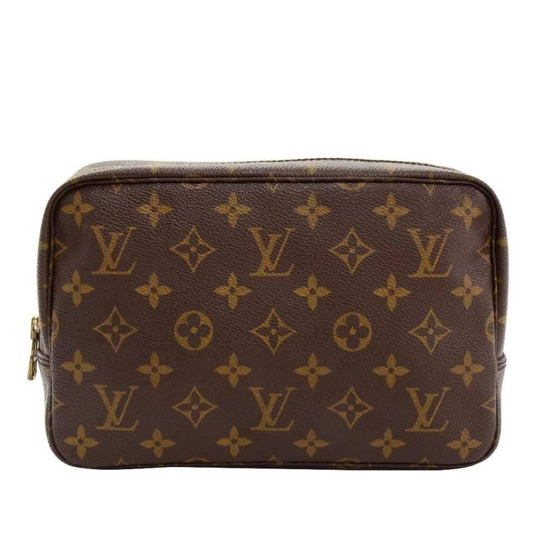 Vintage Louis Vuitton Trousse Toilette 23 Monogram Canvas Cosmetic Pouch 1