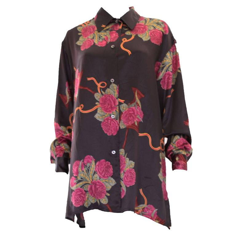 Silk Overshirt by Salvatore Ferragamo For Sale