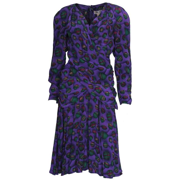Lanvin Paris Silk Dress