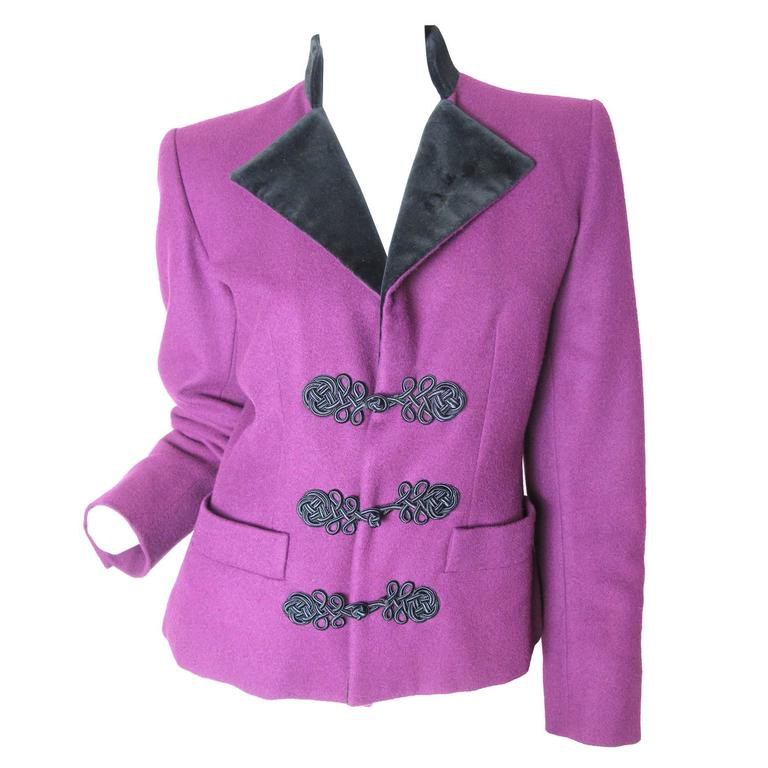 Yves Saint Laurent Rive Gauche Wool Jacket