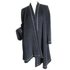 Pauline Trigere Coat with Asymmetrical Hemline