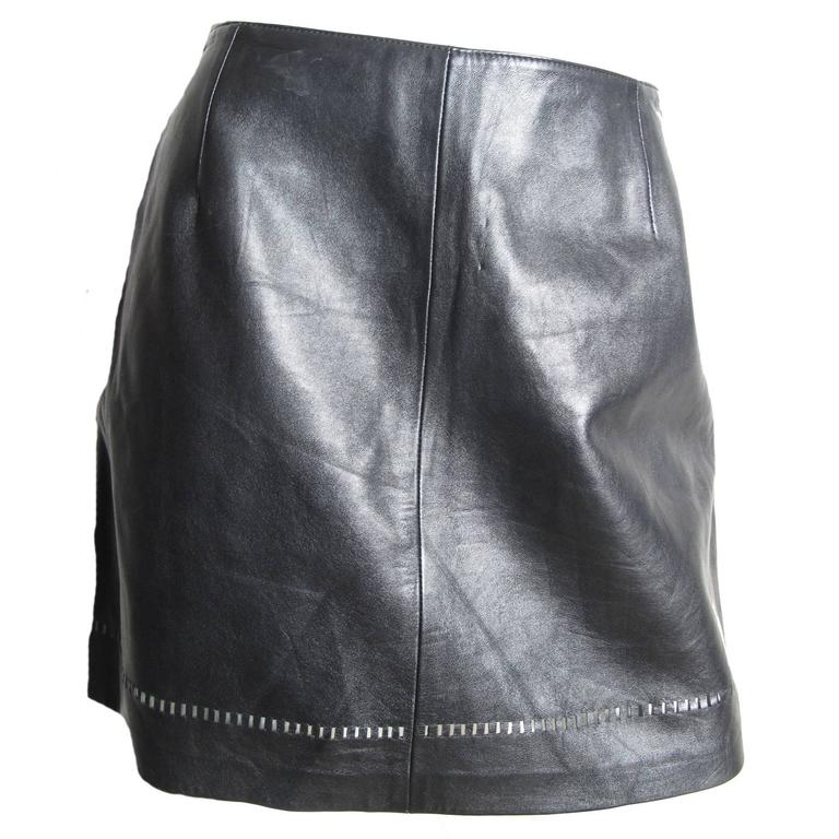 Versus Leather Mini Skirt 1
