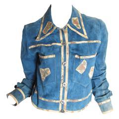 1970s Roberto Cavalli Suede Patchwork Jacket