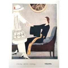 Chanel Vintage 1930's Vintage Ad Print