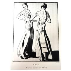 Chanel Vintage Ad Print 1930's