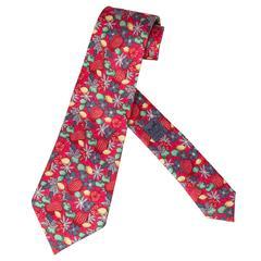 """Vintage Hermes Silk Tie """"Harvest"""""""