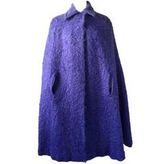 Vintage Mohair Lavender Purple Cape Cloak 1970s Murray Arbeid