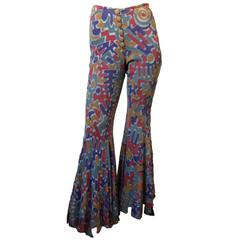 1970s Original Carwash Hem Flares Bell bottoms Vintage