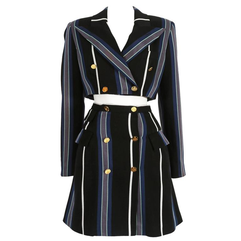 Vivienne Westwood tweed striped skirt suit, circa 1995