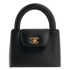 Chanel Black Satin Evening Bag