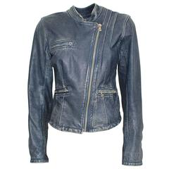 Dolce & Gabbana Hawaii Embroidered Leather Jacket 38