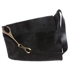 "Tom Ford's All Time ""IT"" Bag: Huge Black Pony Gucci FW 1996 Horsebit Runway Bag!"