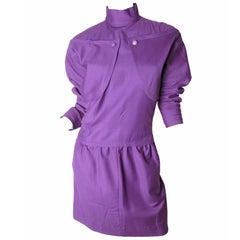 Courreges purple wool Dress