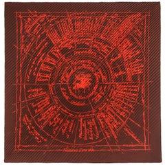 "HERMES c.2004 Michel Duchene ""Naissance d'une Idee"" 100% Silk Plisse Pleat Scarf"
