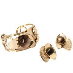 60s Napier Cuff Earring set