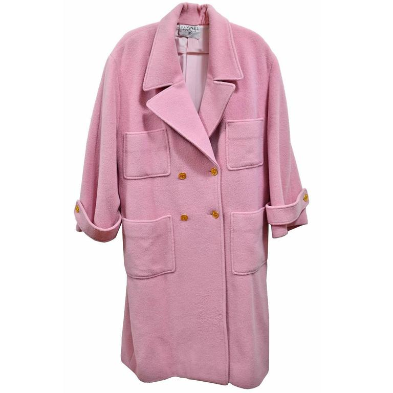 Gorgeous Pink Chanel Full Length Wool & Cashmere Coat