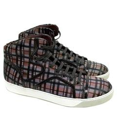 Lanvin Checked High-Top Trainers