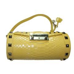 Versace Yellow Python Snakeskin Bag