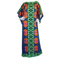 1970s Fabulous Printed Lanvin Numbered Caftan Dress