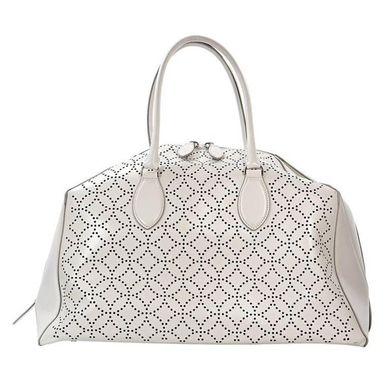 1stdibs Alaïa Grey Large Tote Bag INV0heW5x