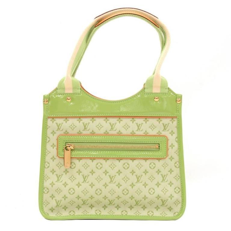 Louis Vuitton Sac Kathleen Light Green Mini Monogram Canvas Handbag
