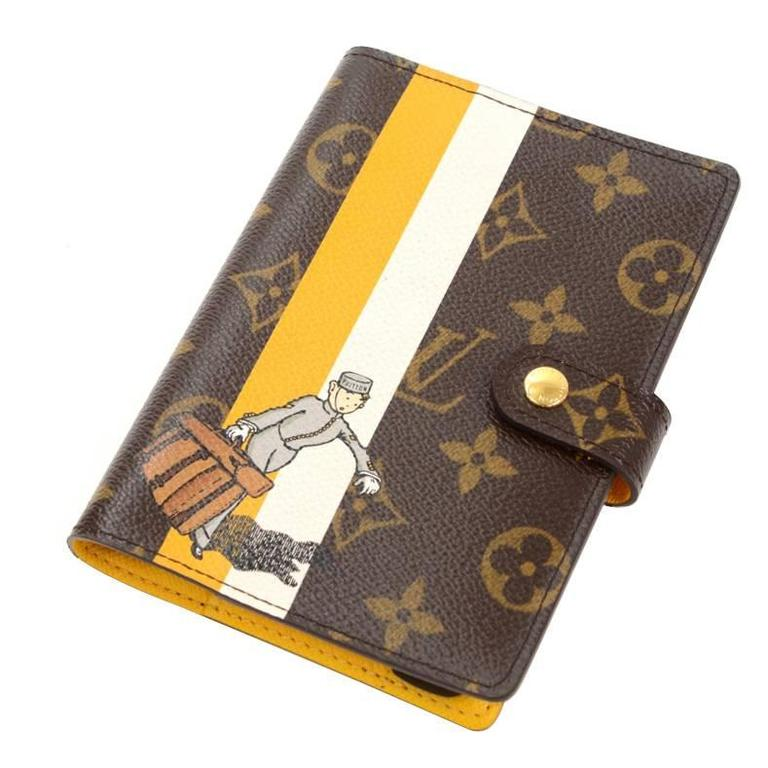 Louis Vuitton Agenda Fonctionnel PM Groom Porte Yellow Monogram - Groom porte