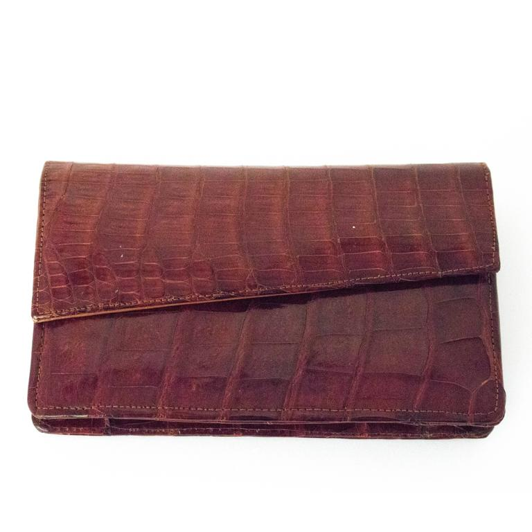70s Brown Crocodile Wallet