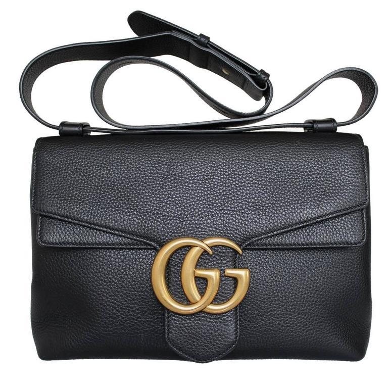 """2015 Gucci Black """"Marmont"""" Shoulder Bag at 1stdibs"""
