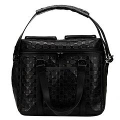 2000's Louis Vuitton Black Damier Python DJ Bag
