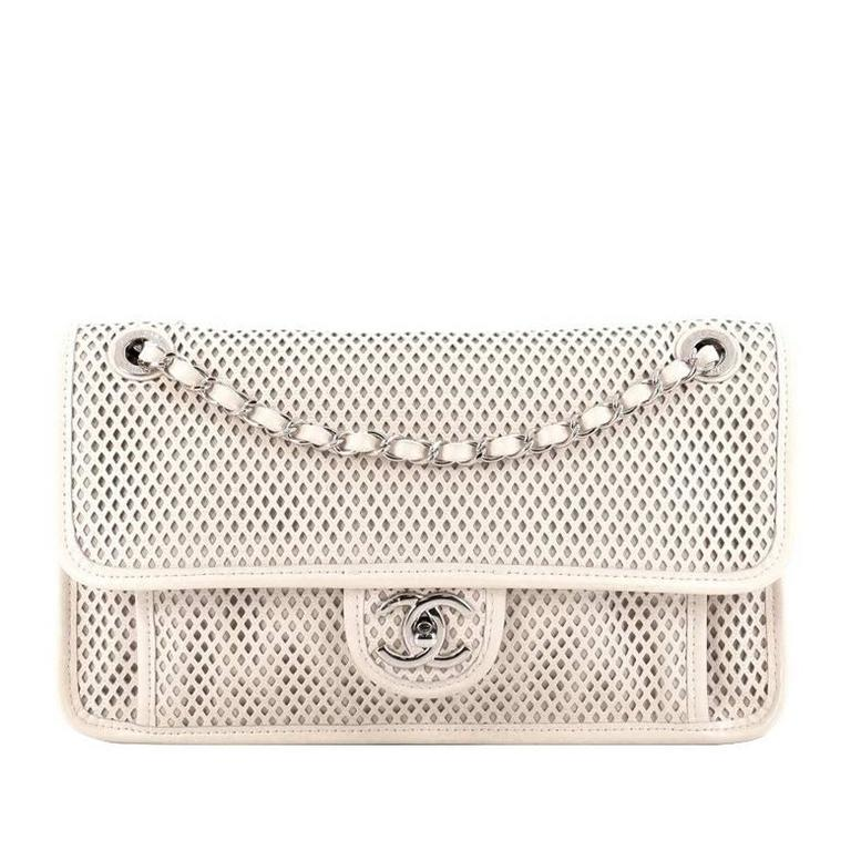 a125413a9c277c Chanel Up In The Air Flap Bag Perforated Leather Medium at 1stdibs