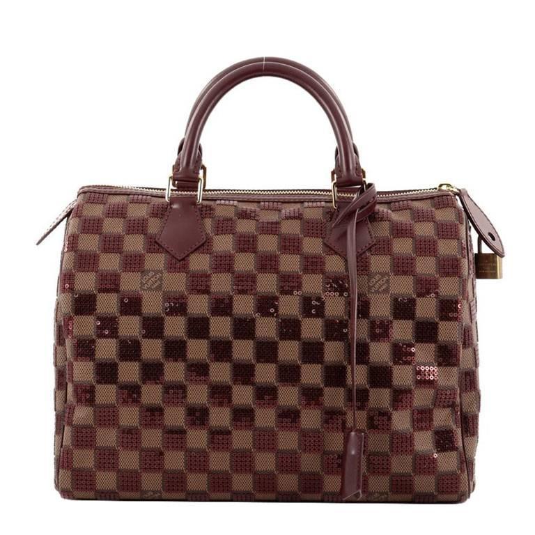Louis Vuitton Speedy Handbag Damier Paillettes 30 For Sale