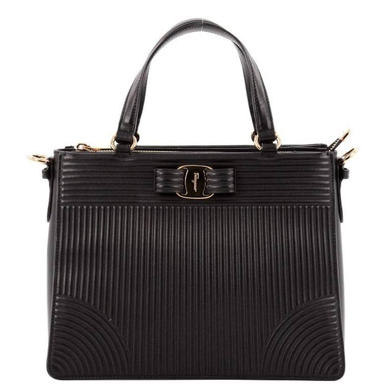 1774d20d14 Salvatore Ferragamo Tracy Handbag Quilted Leather For Sale