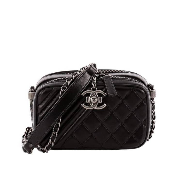 e125d3147648 Chanel Coco Boy Camera Bag Quilted Leather Mini at 1stdibs