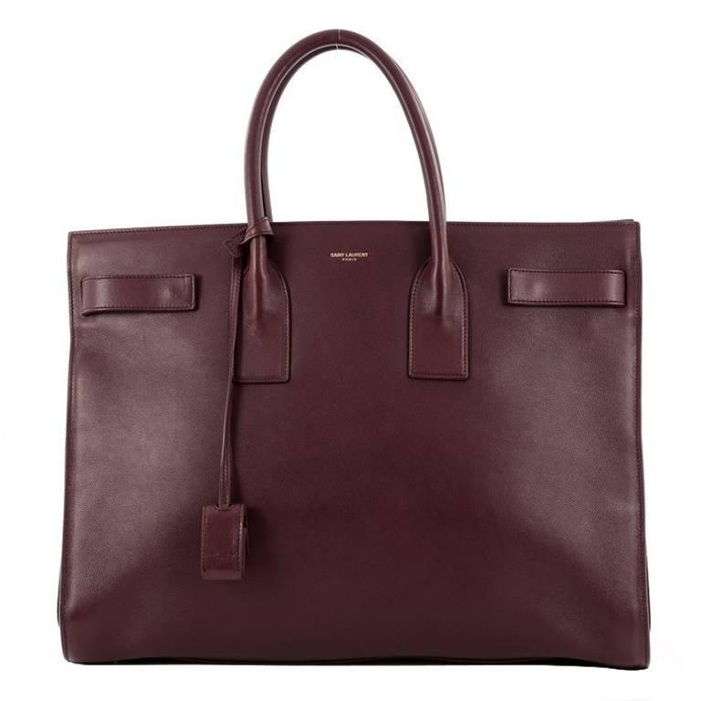 Saint Laurent Sac De Jour Handbag Leather Large At 1stdibs