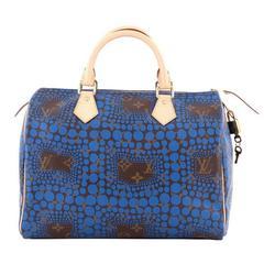 Louis Vuitton Speedy Handbag Limited Edition Kusama Monogram Town Canvas 30