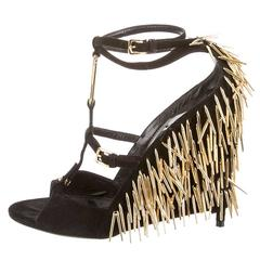 Tom Ford Spring Summer 2013 Black & Gold Spike heels 39